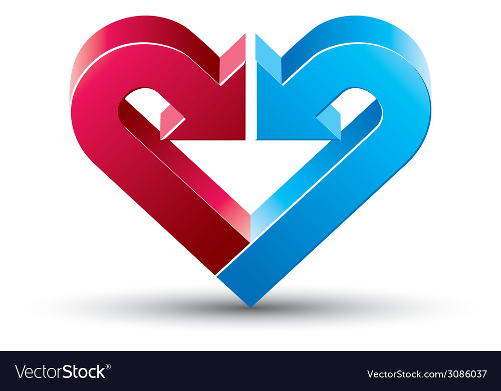 Heart made with 2 arrows vector | Price: 1 Credit (USD $1)