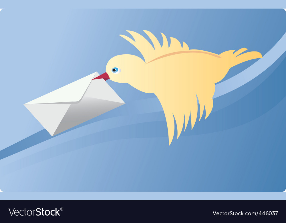 Mail bird vector | Price: 1 Credit (USD $1)