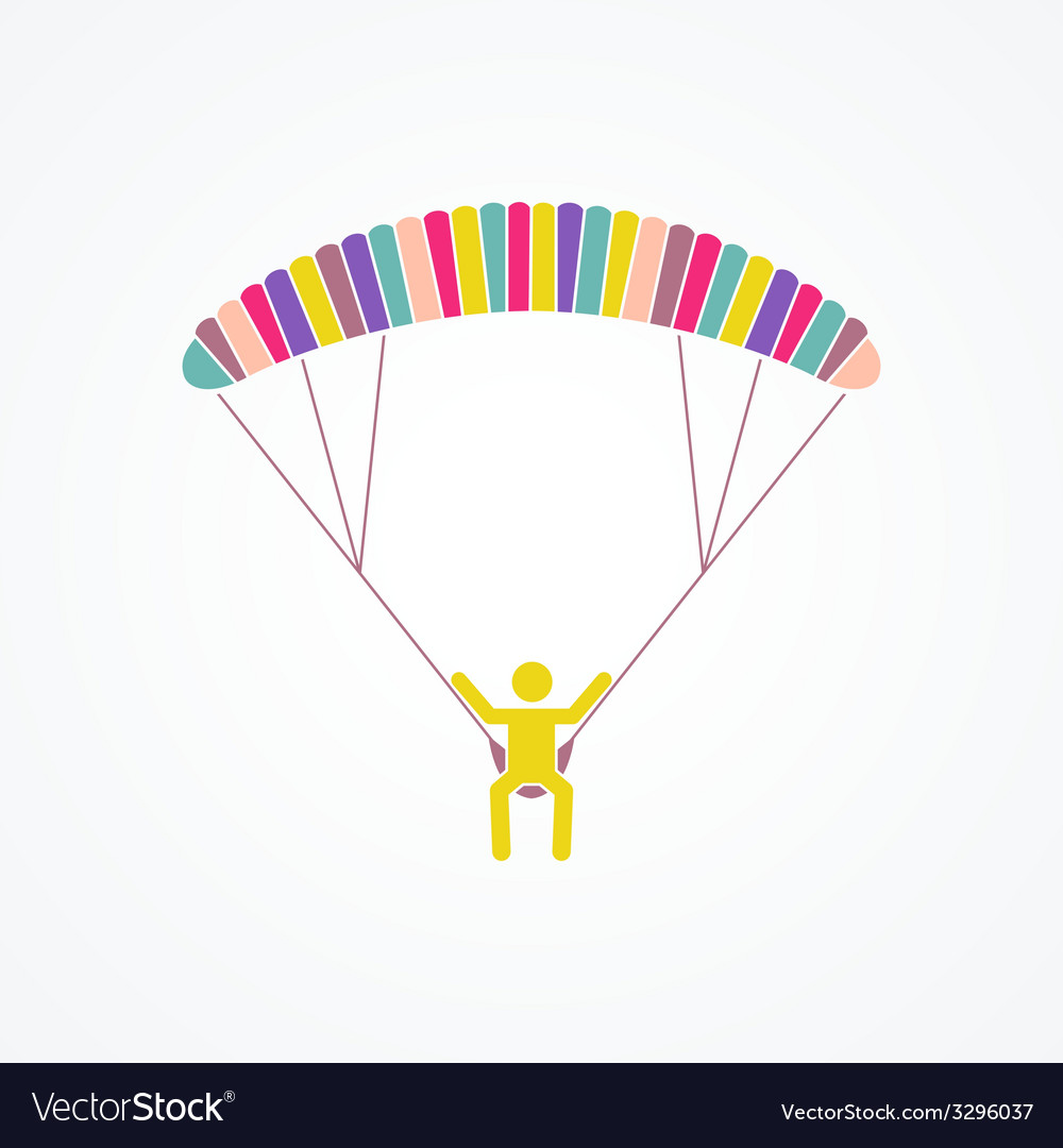 Parasailing concept vector | Price: 1 Credit (USD $1)