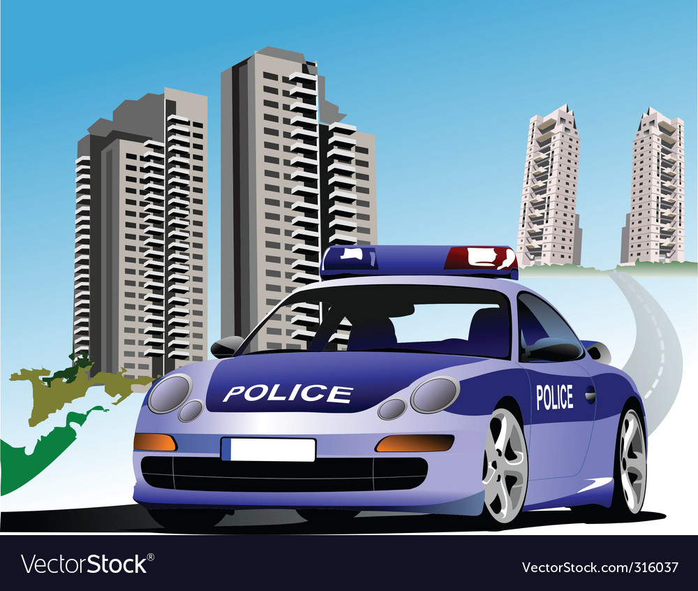 Police city vector | Price: 3 Credit (USD $3)
