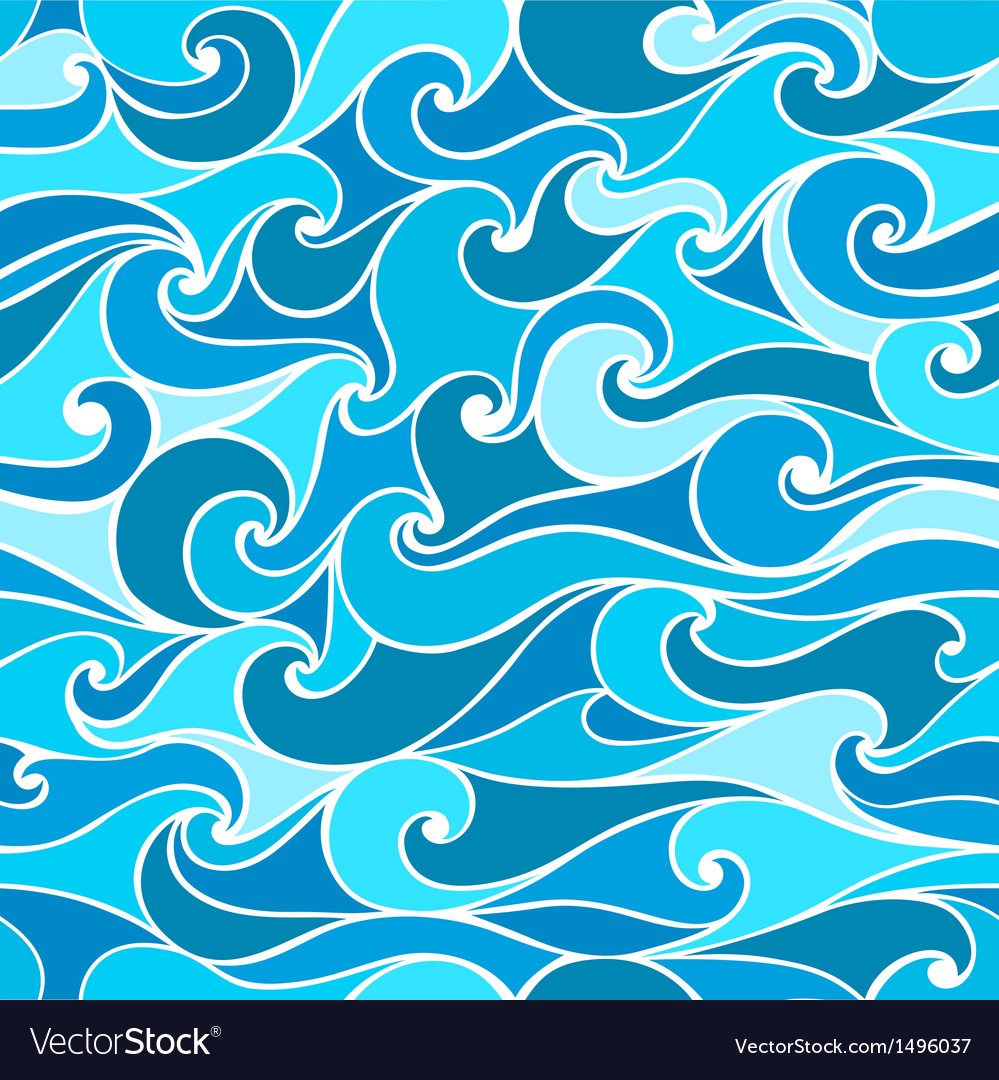 Seamless patterns with stylized wave vector | Price: 1 Credit (USD $1)