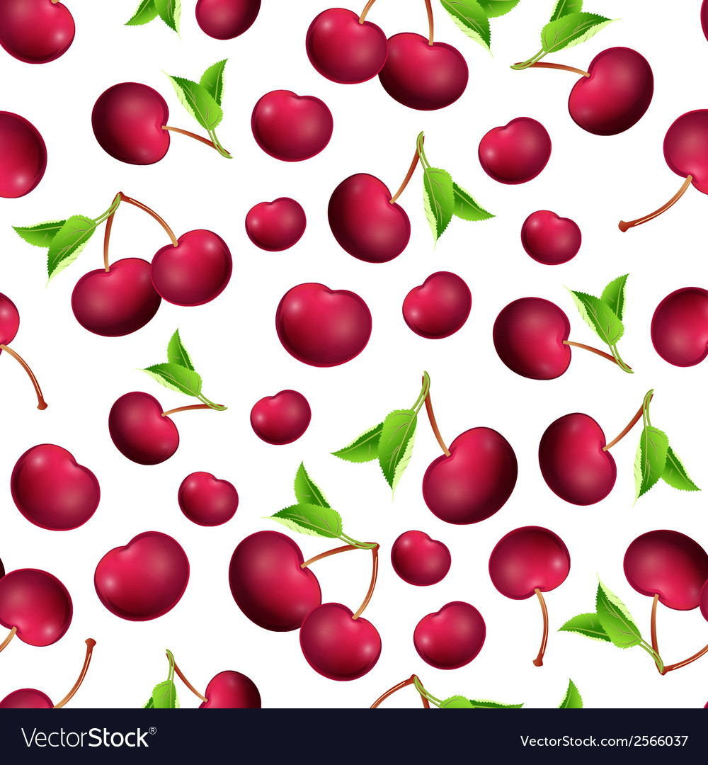 Seamless texture of cherry vector | Price: 1 Credit (USD $1)