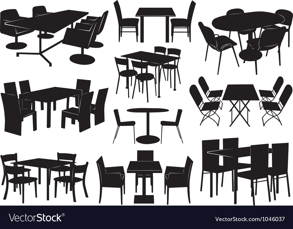 Tables and chairs vector | Price: 1 Credit (USD $1)
