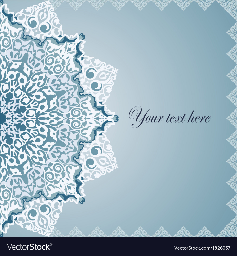 Vintage background traditional ottoman motifs vector | Price: 1 Credit (USD $1)