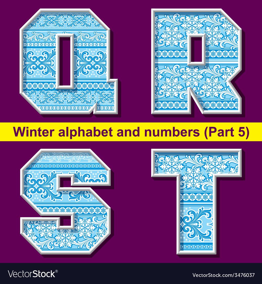 Winter abc 05 vector | Price: 1 Credit (USD $1)