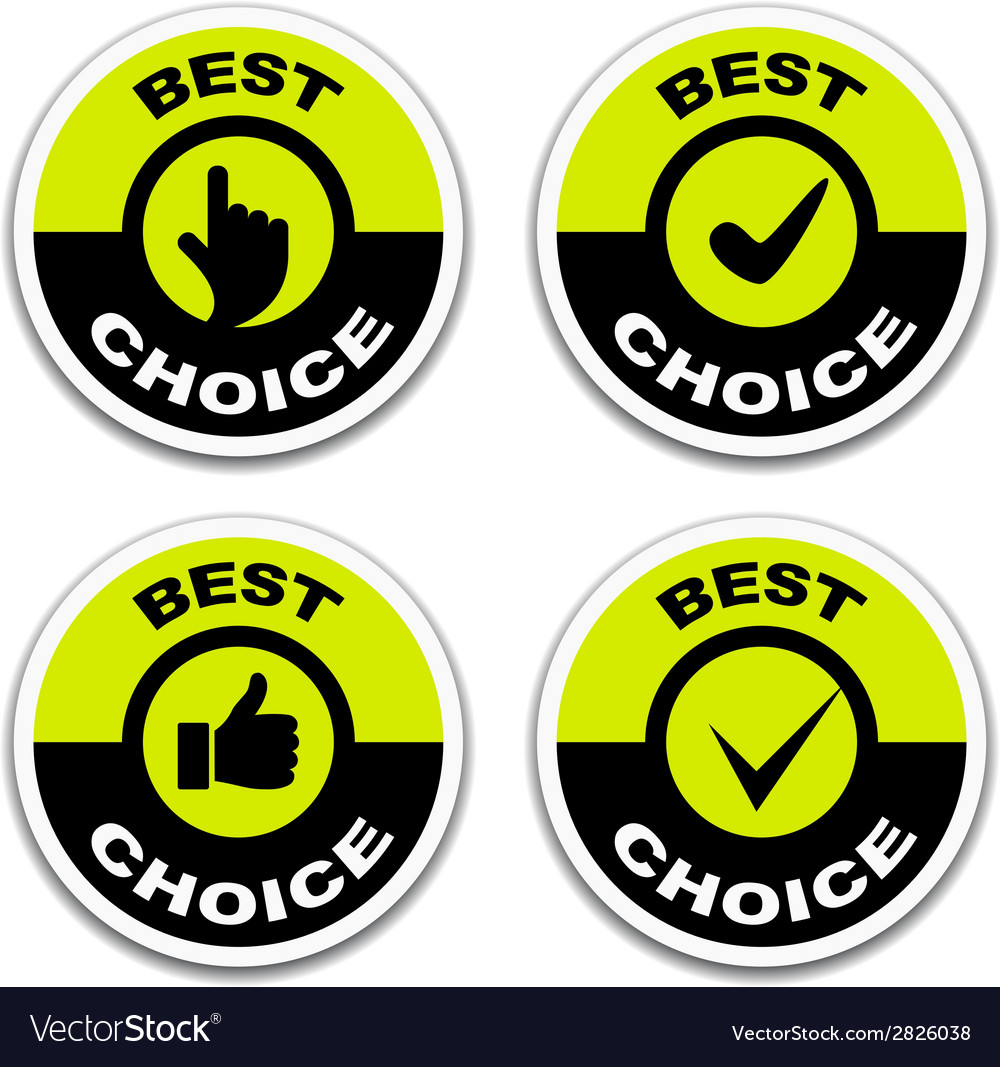 Best choice stickers vector | Price: 1 Credit (USD $1)