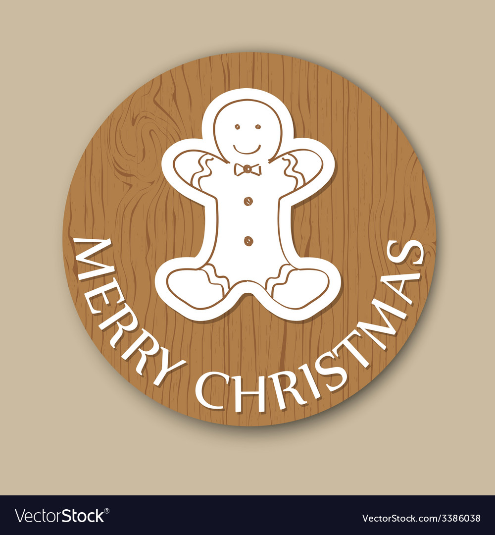 Christmas woody round card vector | Price: 1 Credit (USD $1)
