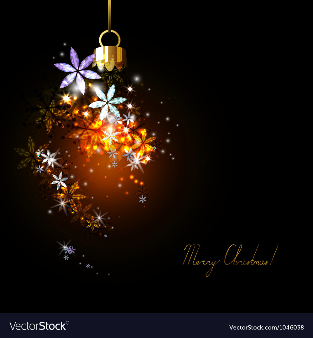 Dark christmas background vector | Price: 1 Credit (USD $1)