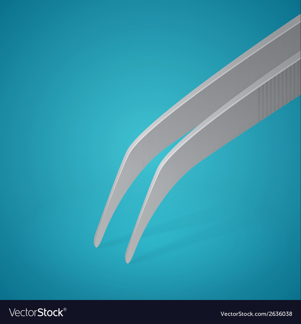 Dental plier on blue background vector | Price: 1 Credit (USD $1)