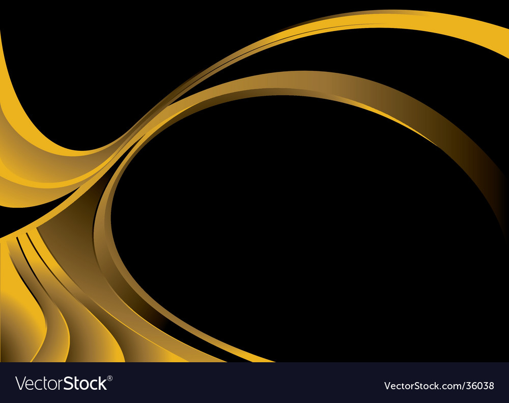 Golden corner bend vector | Price: 1 Credit (USD $1)
