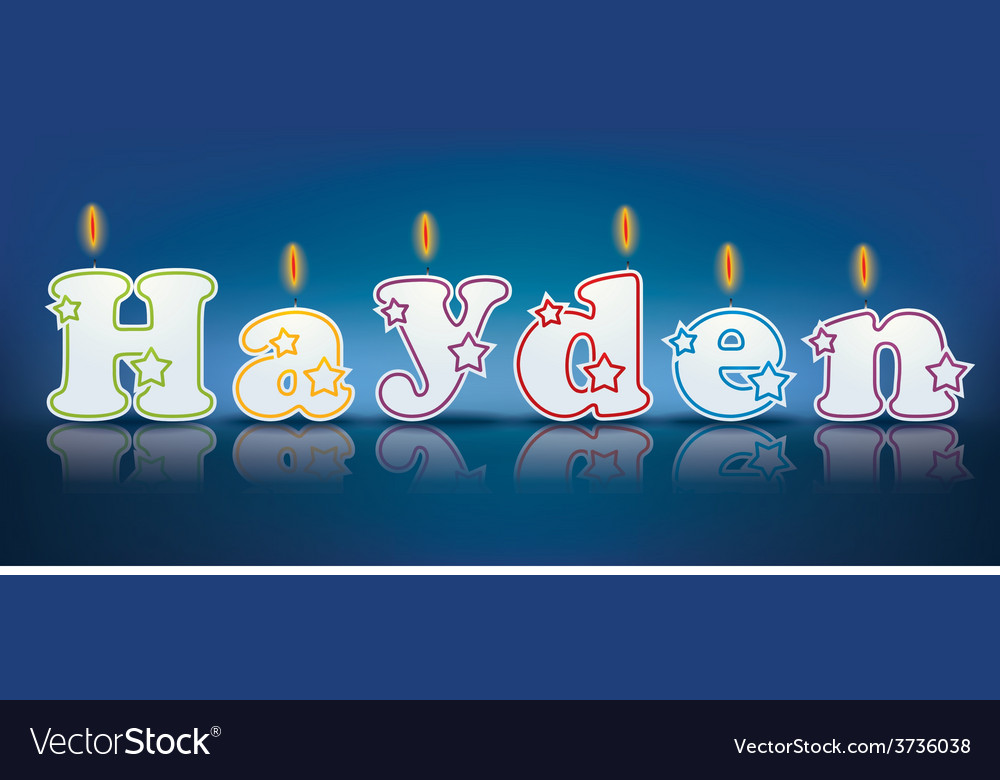 Hayden written with burning candles vector   Price: 1 Credit (USD $1)