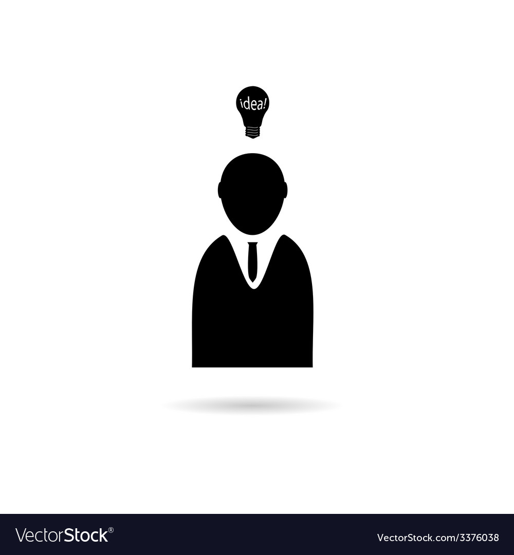 Idea with people icon vector | Price: 1 Credit (USD $1)