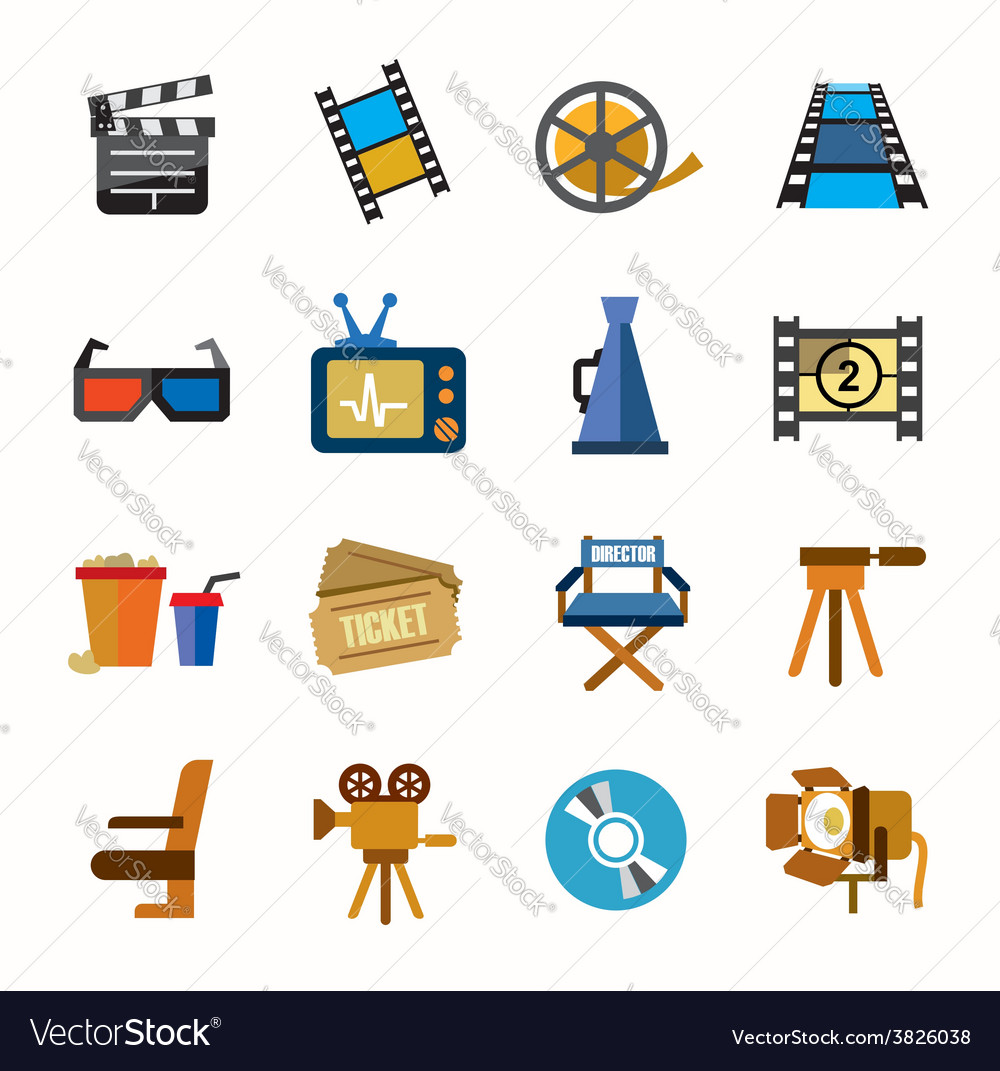 Movie icons vector | Price: 1 Credit (USD $1)