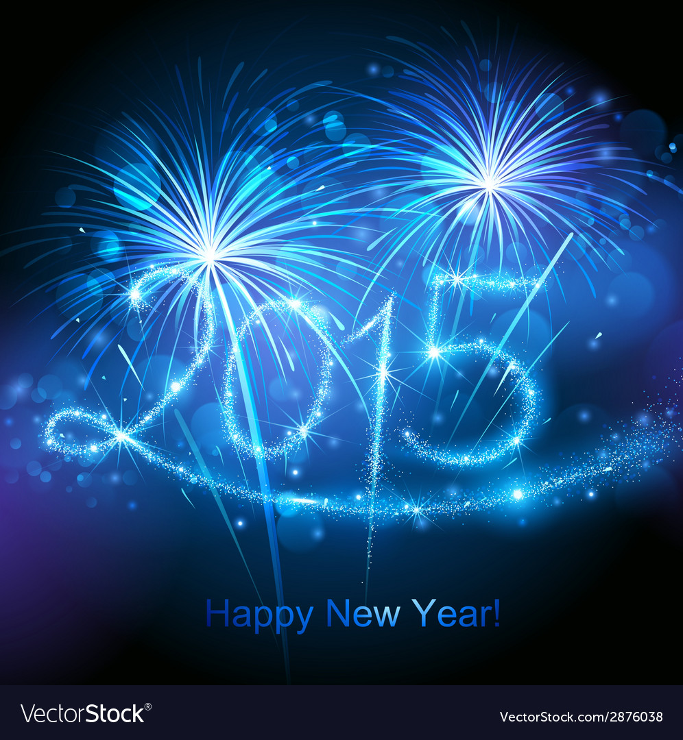New year 2015 fireworks vector | Price: 1 Credit (USD $1)