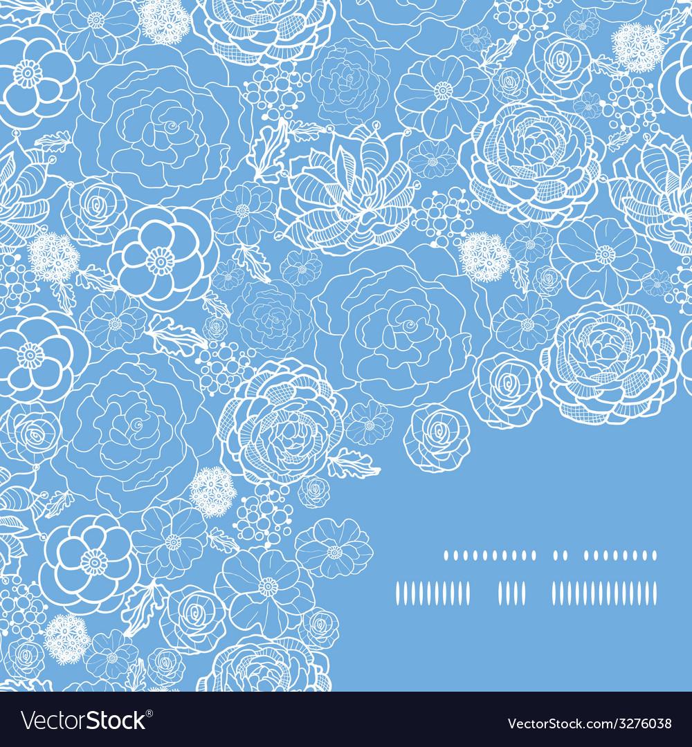 Purple lace flowers frame corner pattern vector | Price: 1 Credit (USD $1)
