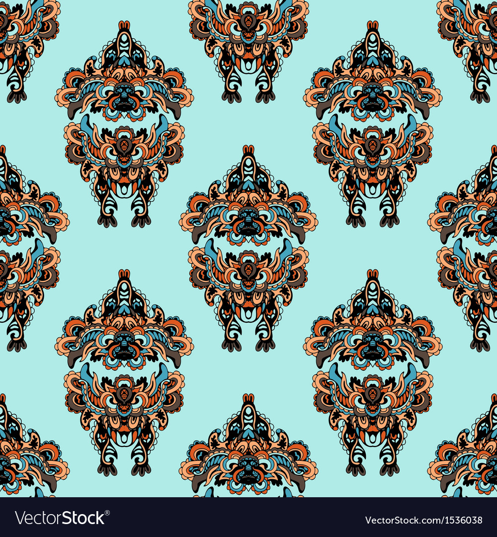 Seamless pattern in folk style vector   Price: 1 Credit (USD $1)