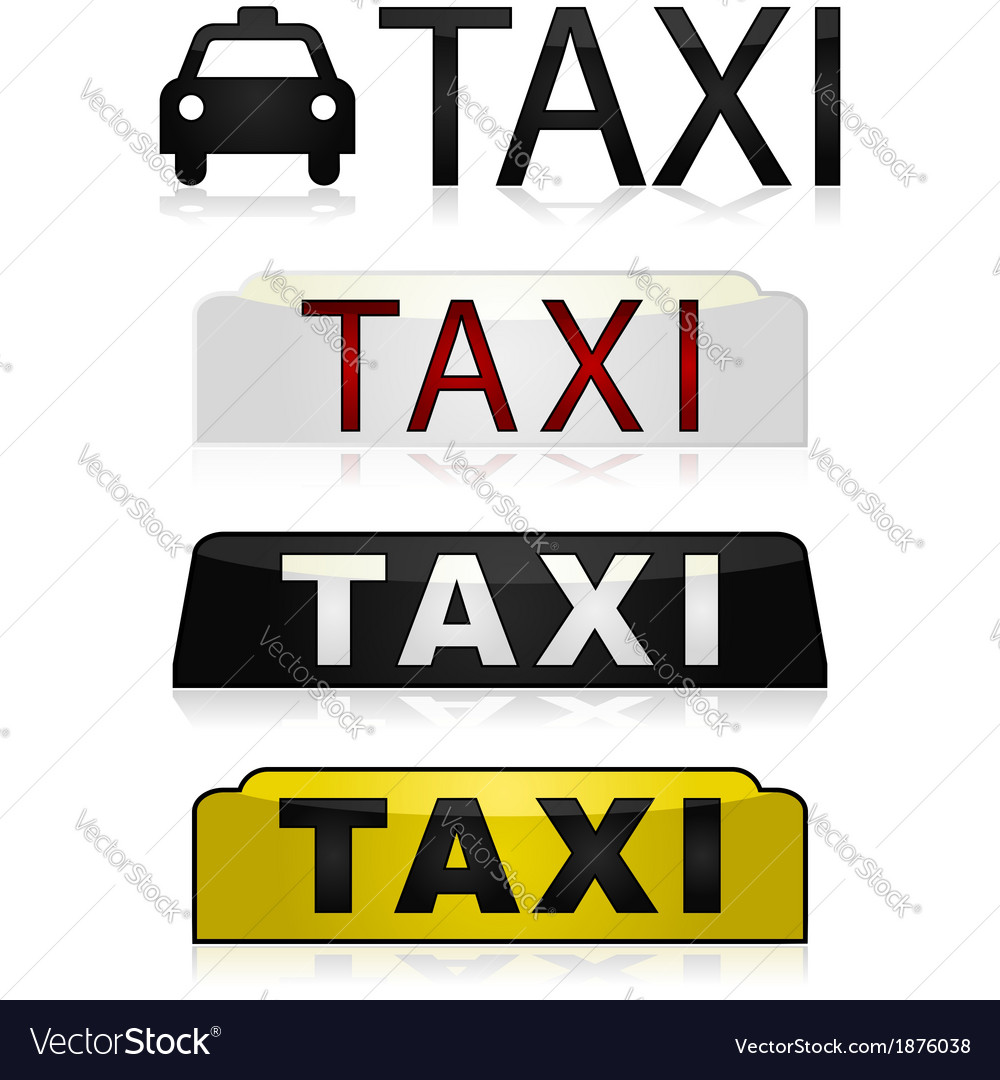Taxi signs vector | Price: 1 Credit (USD $1)