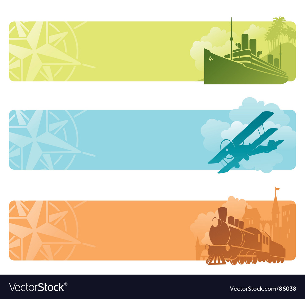 Transport banners vector | Price: 1 Credit (USD $1)