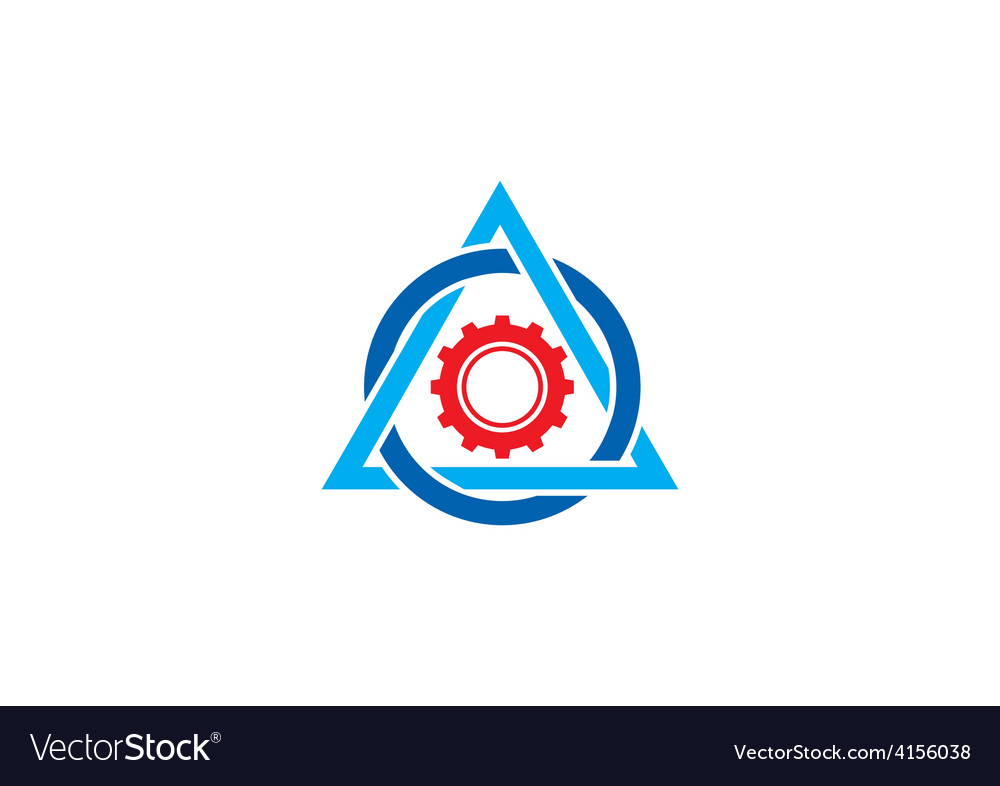 Work gear triangle abstract logo vector | Price: 1 Credit (USD $1)