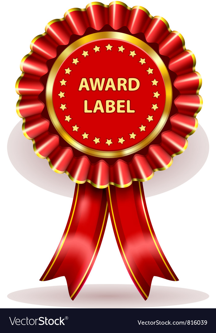 Award label vector | Price: 1 Credit (USD $1)