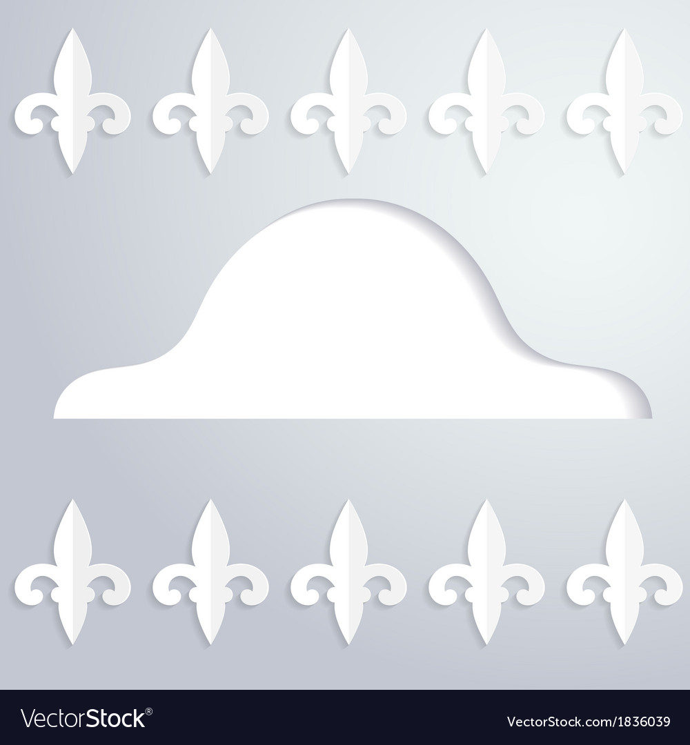 Background with a silhouette of cocked hat vector | Price: 1 Credit (USD $1)