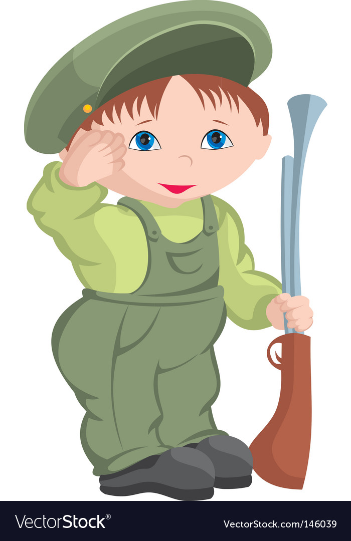 Child military vector | Price: 1 Credit (USD $1)