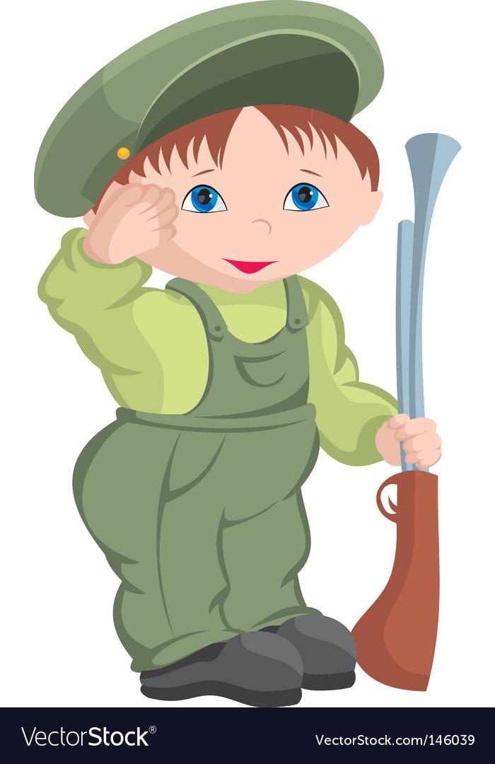 Child military vector | Price: 1 Credit (USD $1)