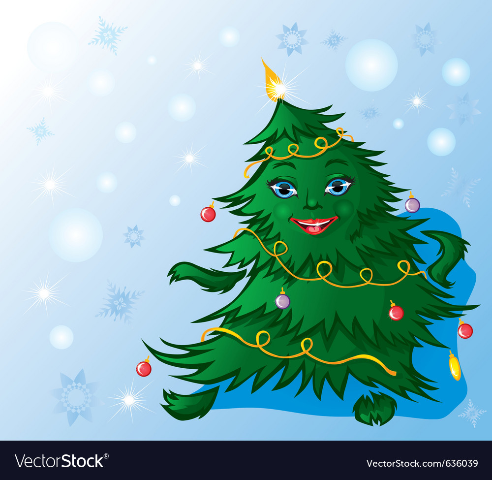Christmas tree dance vector | Price: 1 Credit (USD $1)