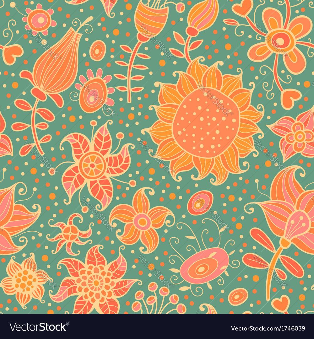 Flowering garden vector | Price: 1 Credit (USD $1)
