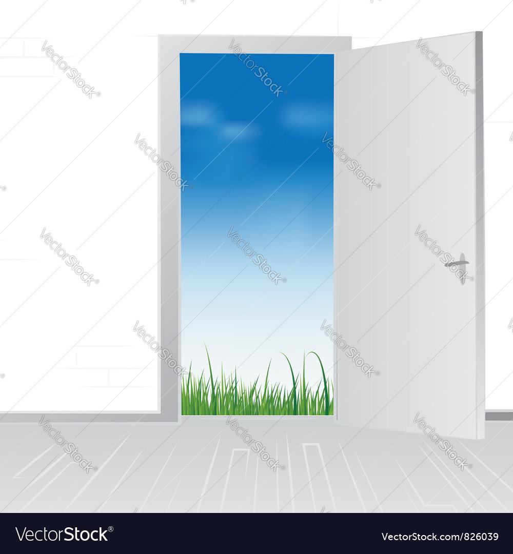 Open door to nature vector | Price: 1 Credit (USD $1)