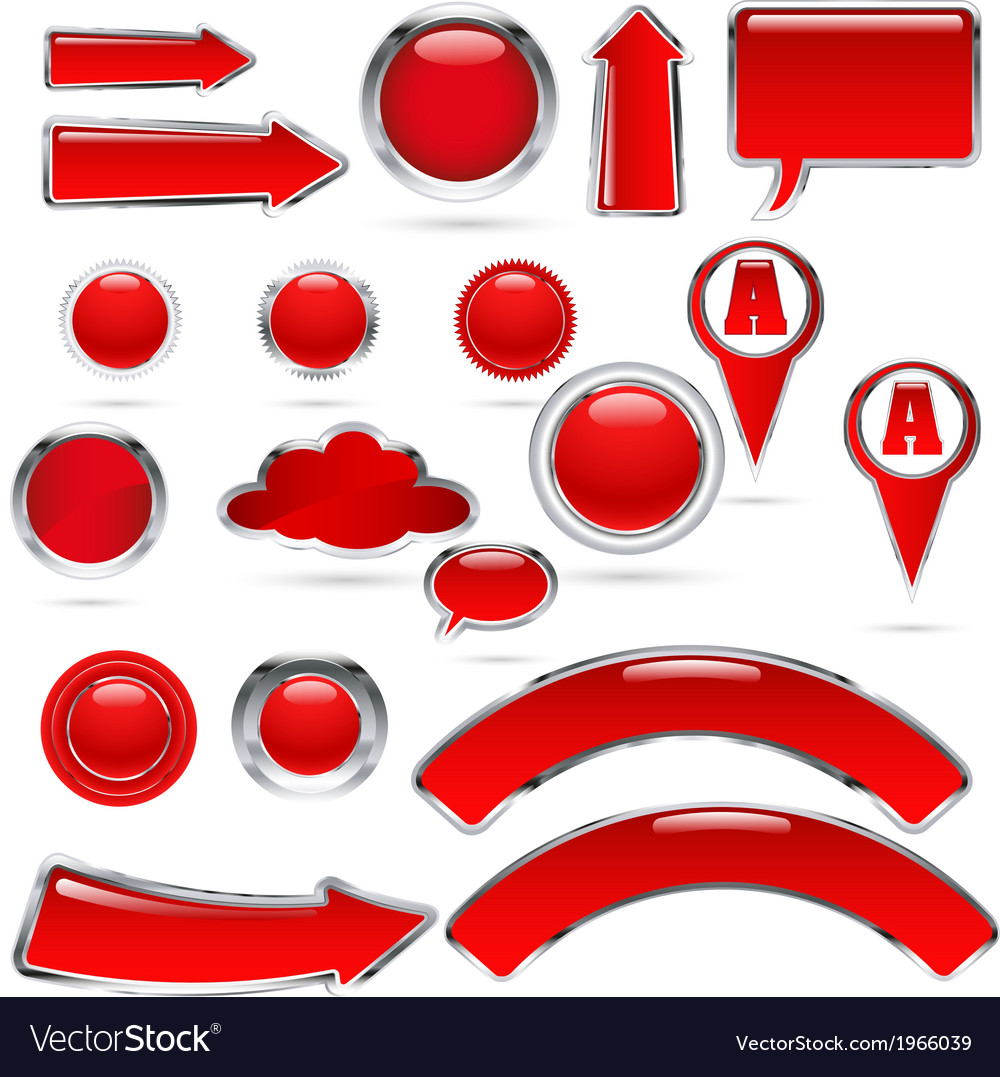 Red metal glass kolekcija bre vector | Price: 1 Credit (USD $1)