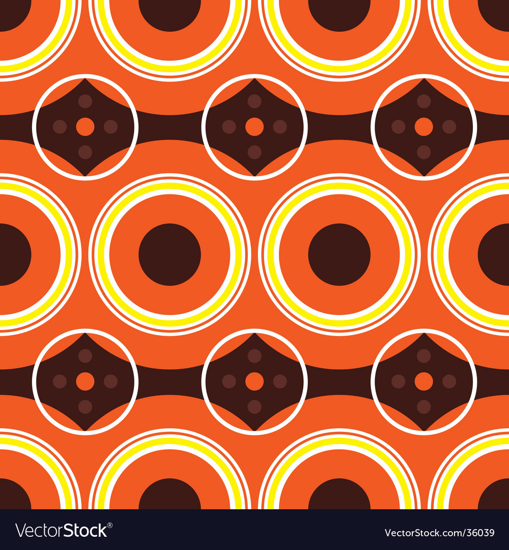 Sixties orange retro vector | Price: 1 Credit (USD $1)