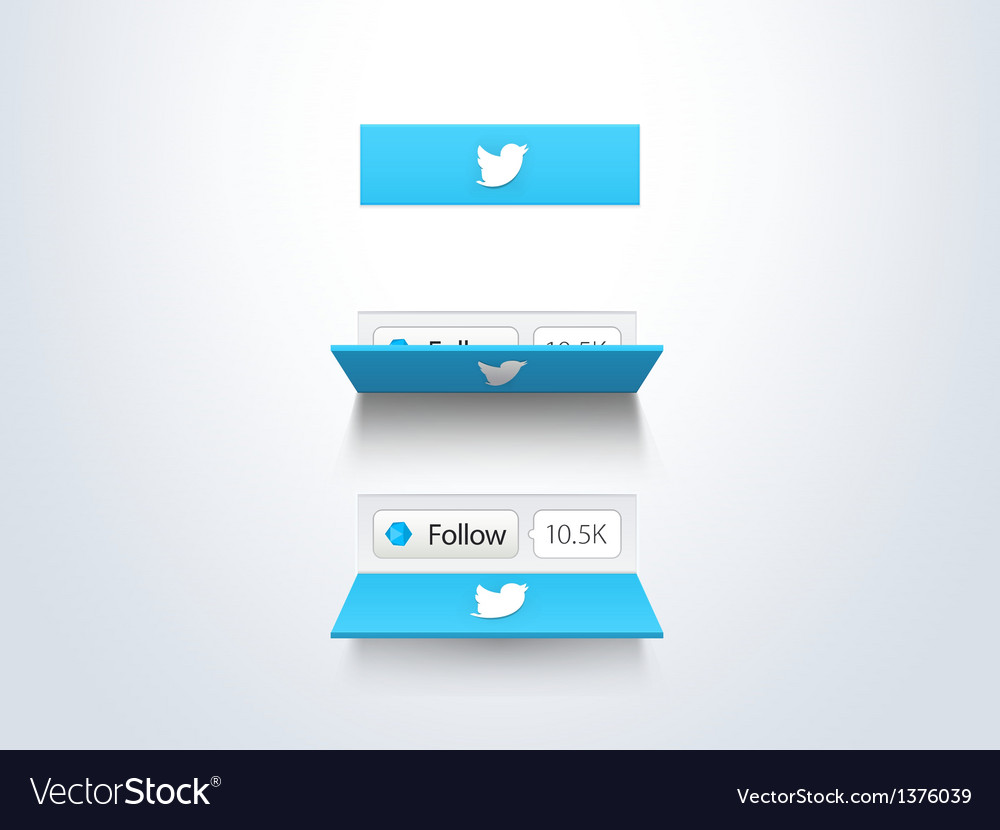 Social media follow button and counter vector | Price: 1 Credit (USD $1)