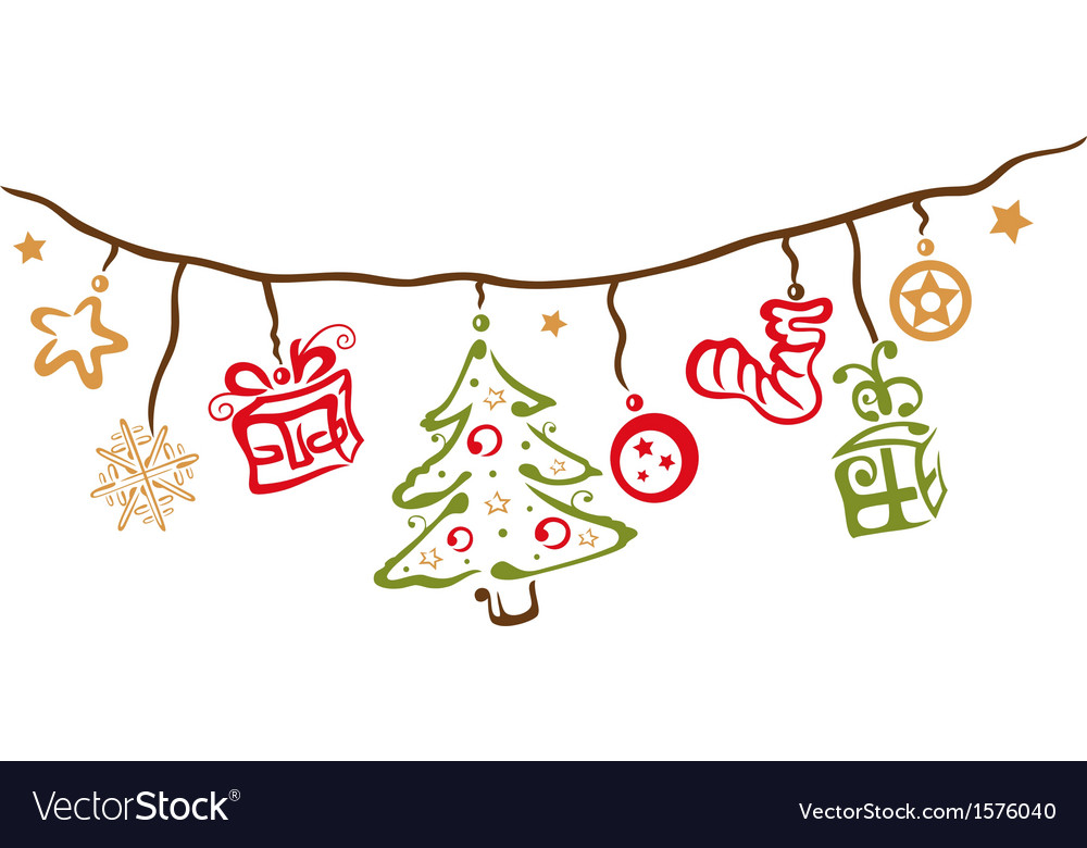 Christmas xmas decoration vector | Price: 1 Credit (USD $1)