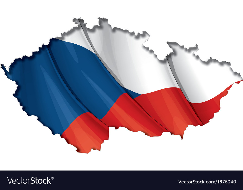 Czech map flag vector | Price: 1 Credit (USD $1)