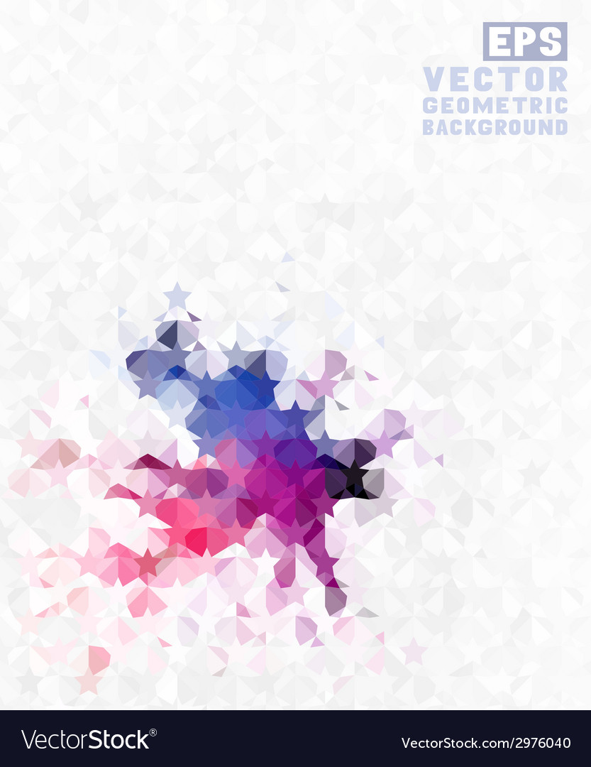 Geometric retro background vector | Price: 1 Credit (USD $1)