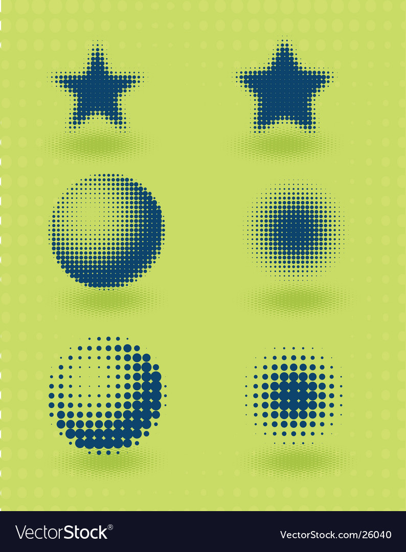 Halftone pattern vector | Price: 1 Credit (USD $1)