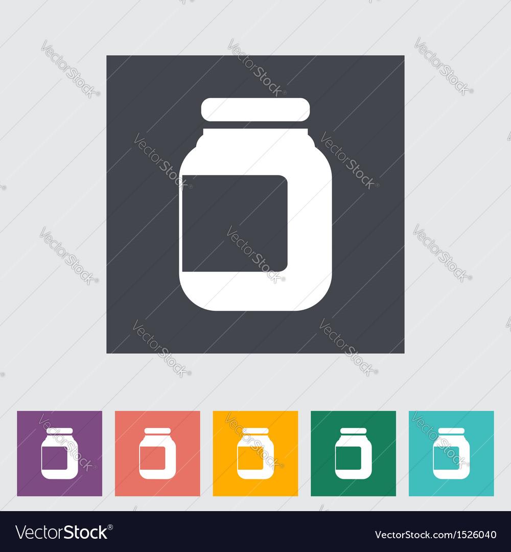 Jar icon vector | Price: 1 Credit (USD $1)