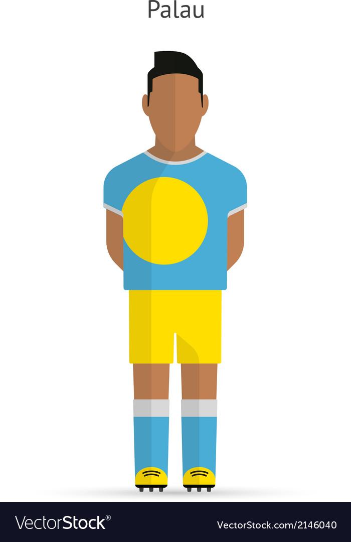 Palau football player soccer uniform vector | Price: 1 Credit (USD $1)