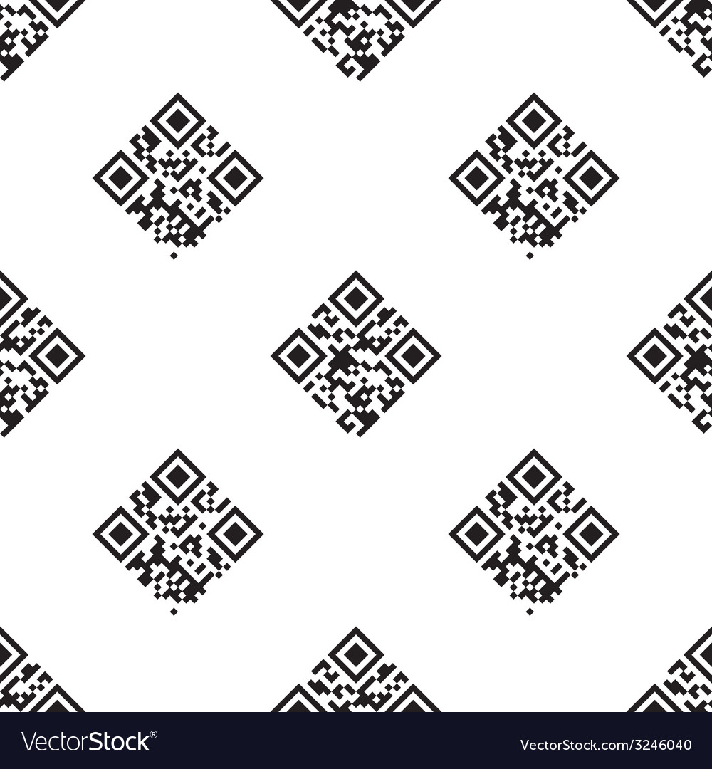 Qr codes seamless pattern vector | Price: 1 Credit (USD $1)