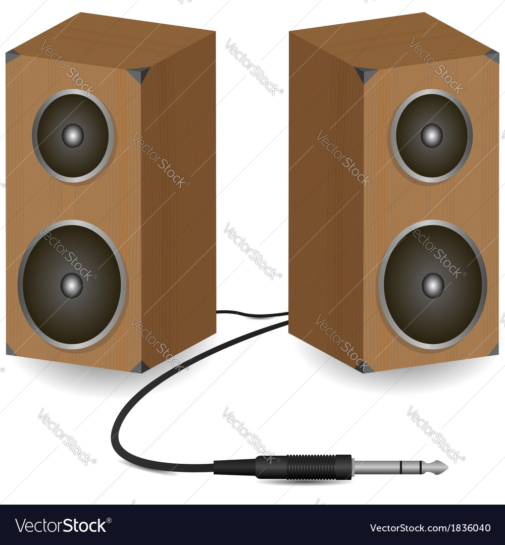 Stereo speakers vector | Price: 1 Credit (USD $1)