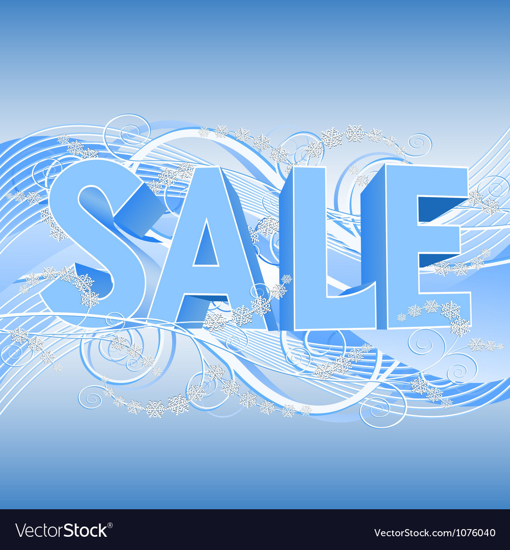 Winter sale banner vector | Price: 3 Credit (USD $3)