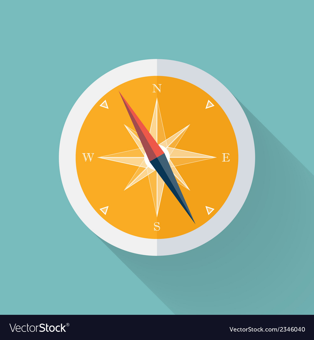 Yellow compass flat icon over mint vector | Price: 1 Credit (USD $1)
