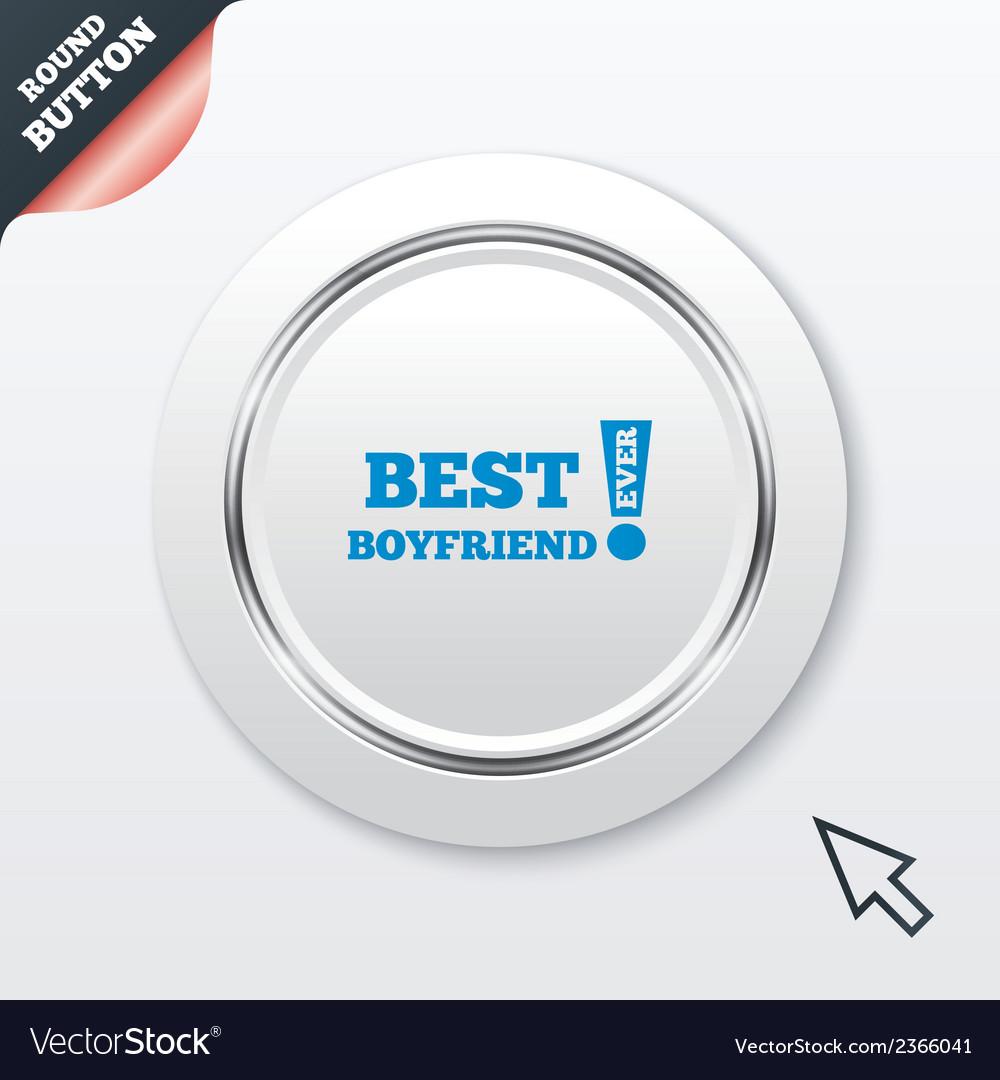 Best boyfriend ever sign icon award symbol vector | Price: 1 Credit (USD $1)