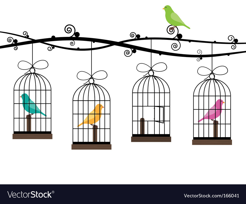 Bird cages vector | Price: 1 Credit (USD $1)