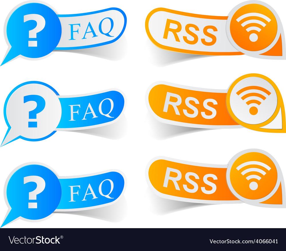 Faq rss tags vector | Price: 1 Credit (USD $1)