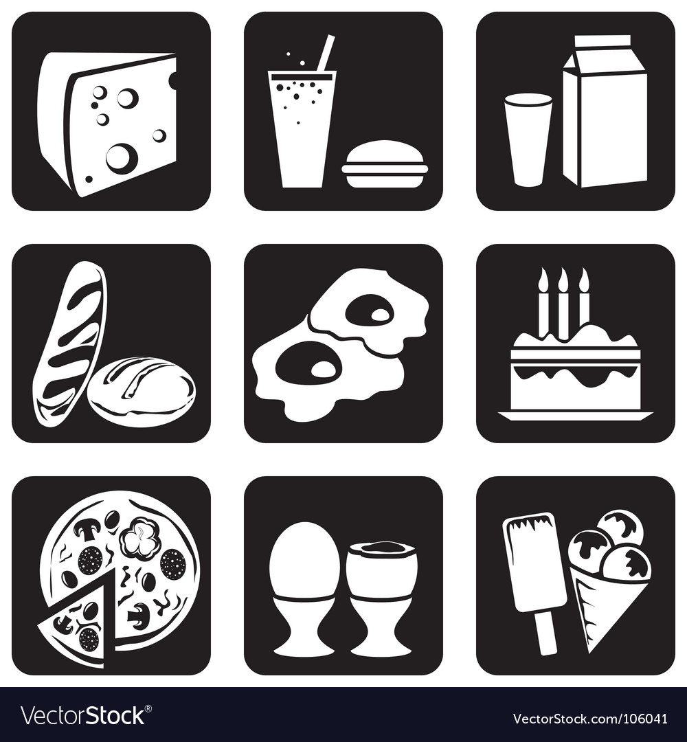 Icons food vector   Price: 1 Credit (USD $1)