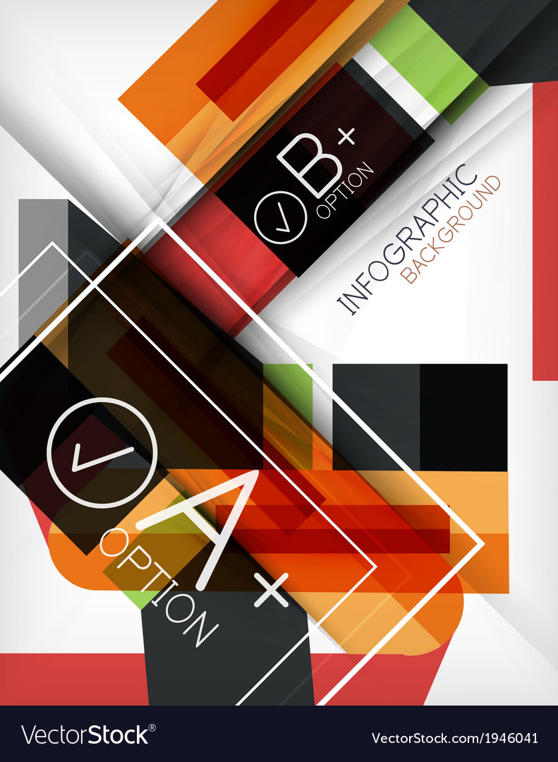 Infographic geometrical shape abstract background vector | Price: 1 Credit (USD $1)