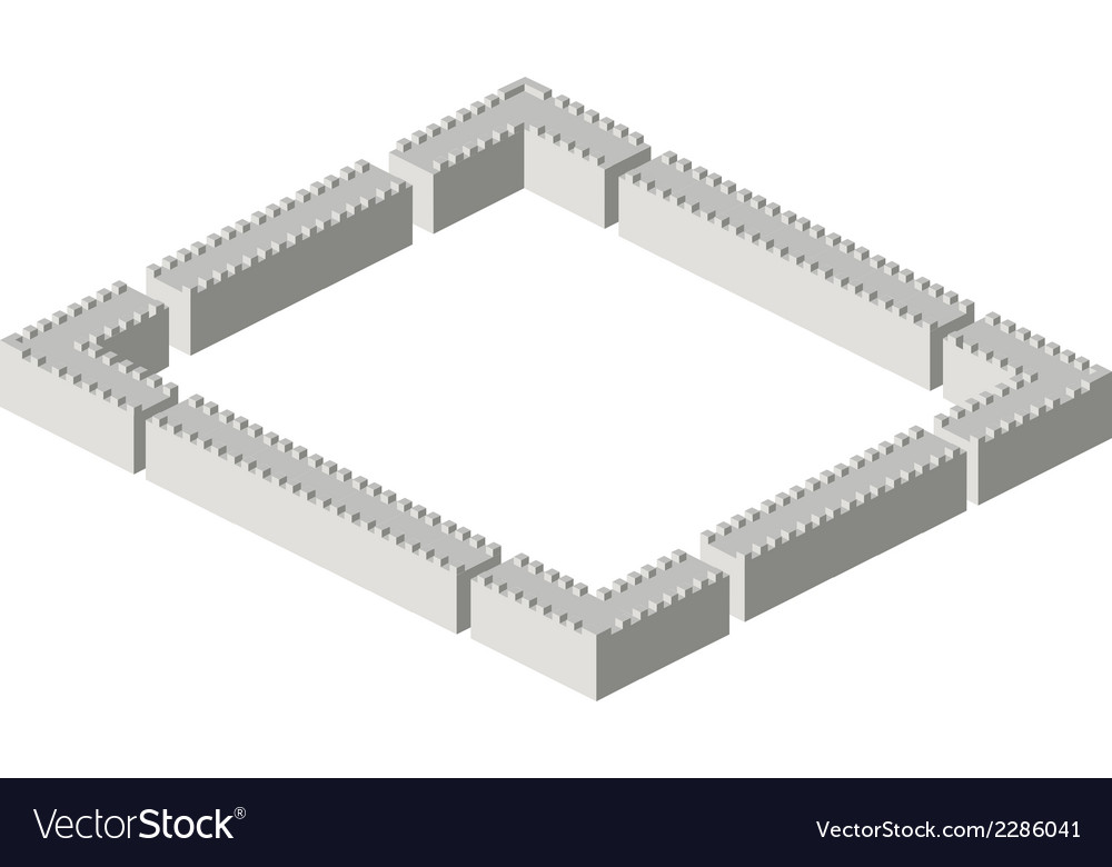 Isometric walls vector | Price: 1 Credit (USD $1)
