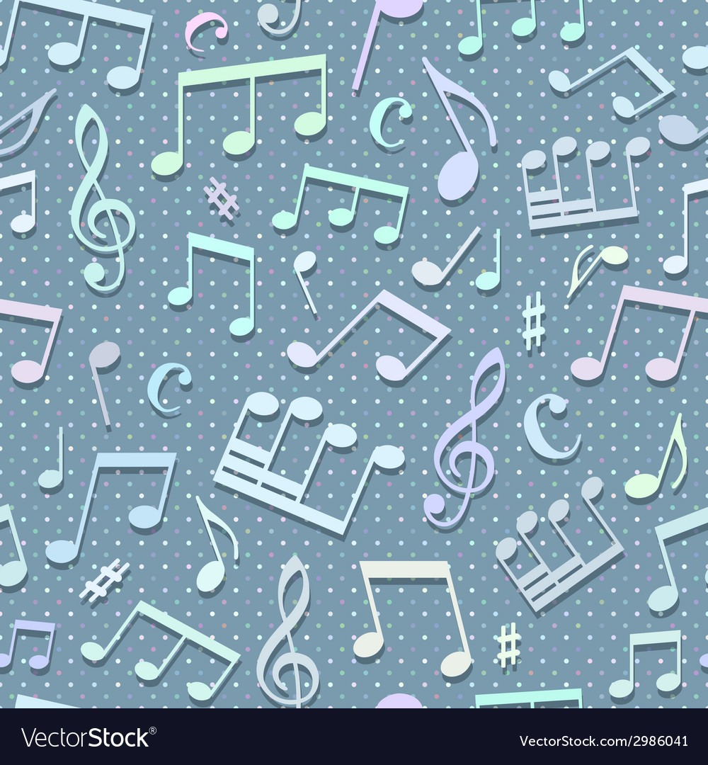 Seamless music pattern vector | Price: 1 Credit (USD $1)